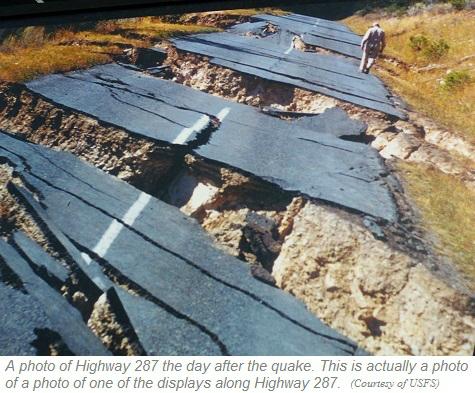 Hedgen Lake Earthquake Photo (Courtesy USFS)