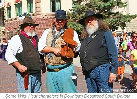 Deadwood Wild West Characters, Deadwood South Dakota