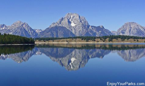 Mount Moran over Jackson Lake, Signal Mountain Area, Grand Teton National Park