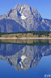 Mount Moran above Jackson Lake, Signal Mountain Area, Grand Teton National Park