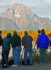 Landscape Photographers, Oxbow Bend, Grand Teton National Park
