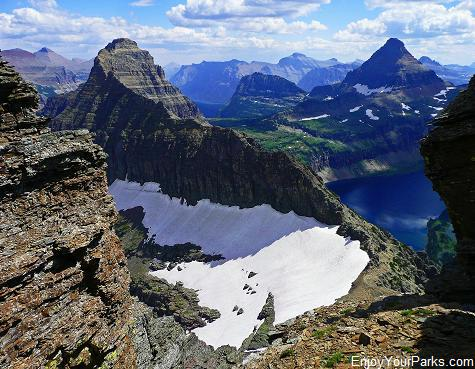 Cannon Mountain summit view, Glacier National Park