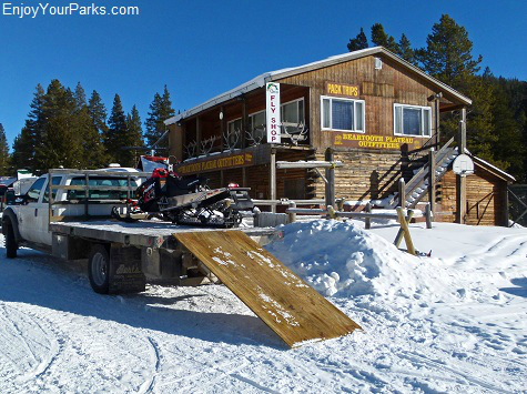 Beartooth Plateau Outfitters, Cooke City Montana, Winter in Yellowstone, Yellowstone National Park