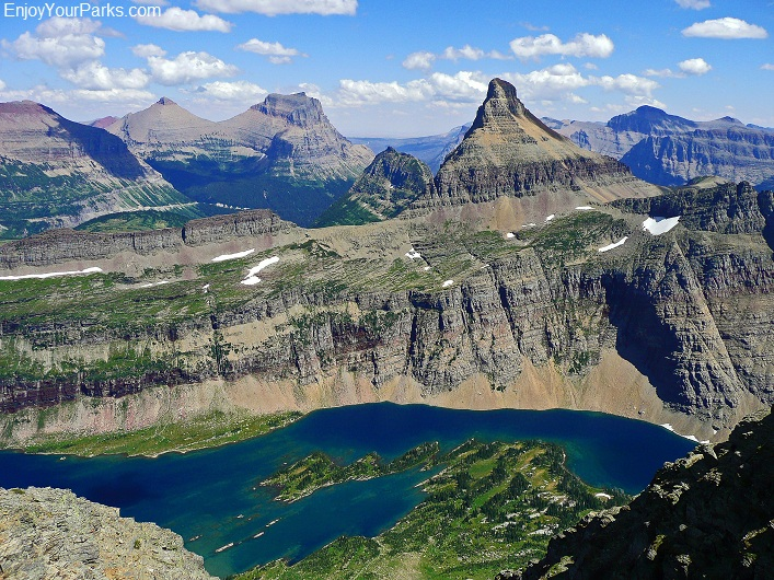 Bearhat Mountain summit view, Glacier National Park.