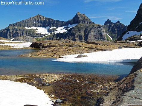 Glacial tarn, Boulder Pass Trail, Glacier National Park