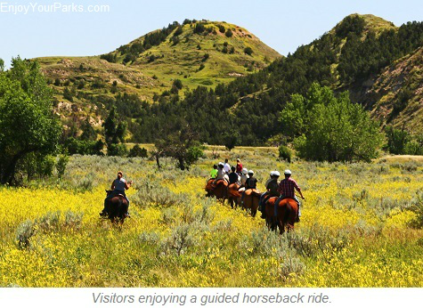 Guided horseback rides, Theodore Roosevelt National Park, North Dakota