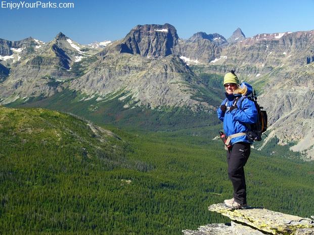 Calf Robe Mountain summit view, Glacier National Park