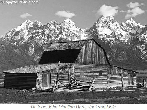 Historic John Moulton Barn, Jackson Hole Wyoming