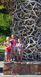 Elk Antler Arch, Jackson Wyoming