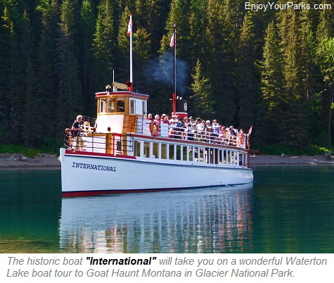 Waterton Boat Tour, Glacier National Park, Waterton Lakes National Park