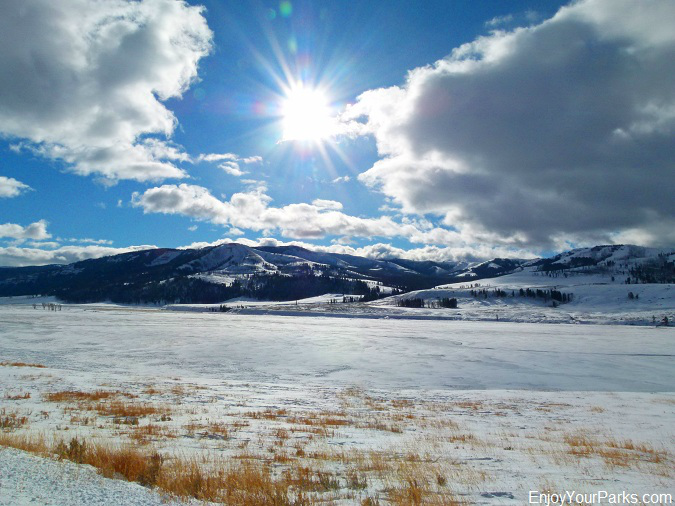 Lamar Valley, Winter in Yellowstone Park