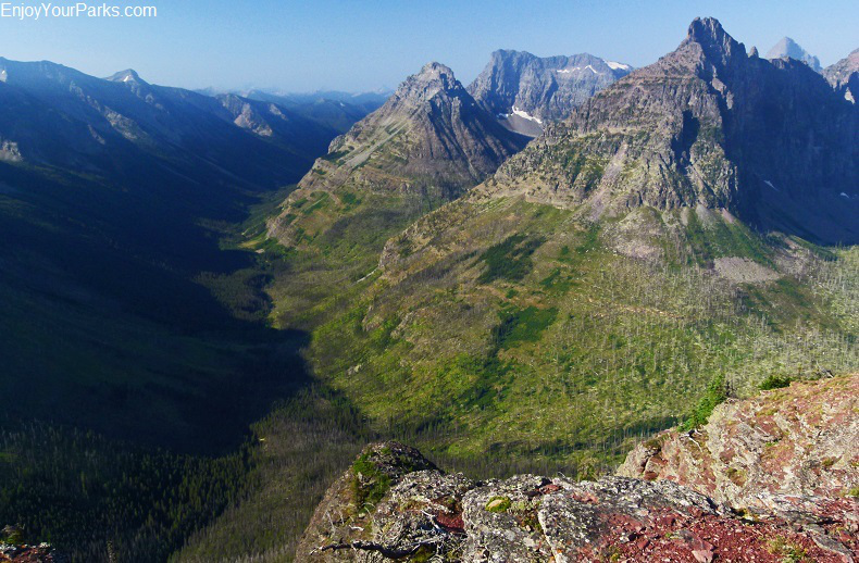 Park Creek Valley as viewed from Mount Rockwell, Glacier National Park