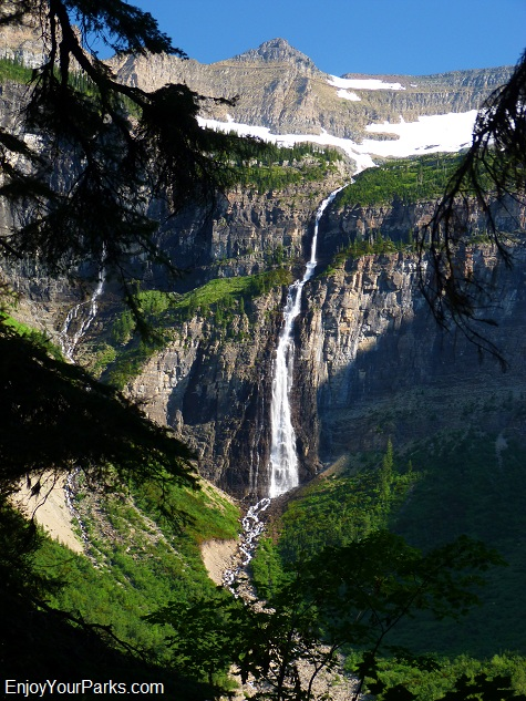 Hole In The Wall Falls, trail to Brown Pass, Glacier National Park