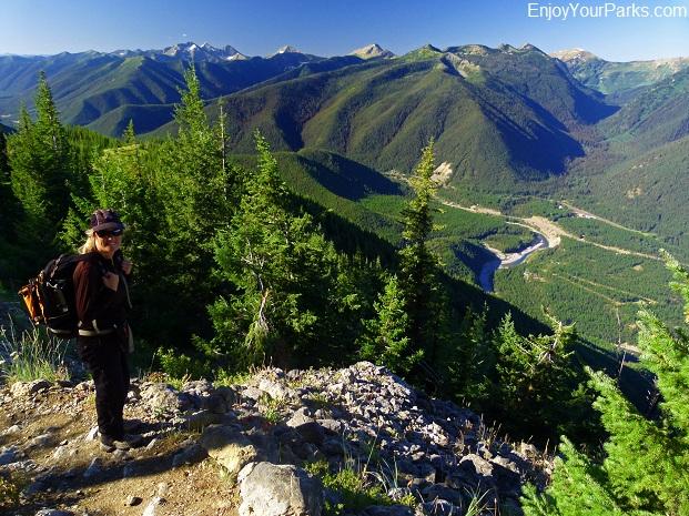 Scalplock Mountain summit view, Glacier National Park
