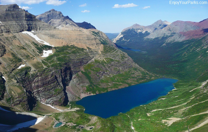 Helen Lake and Elizabeth Lake, Belly River Trail, Glacier National Park