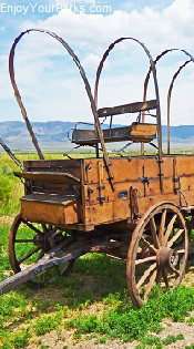 Old wagon, Idaho