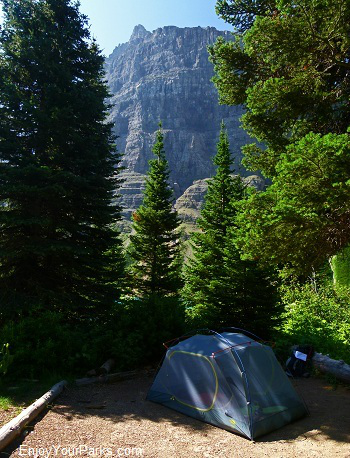 Lake Francis Backcountry Campground, Glacier Park