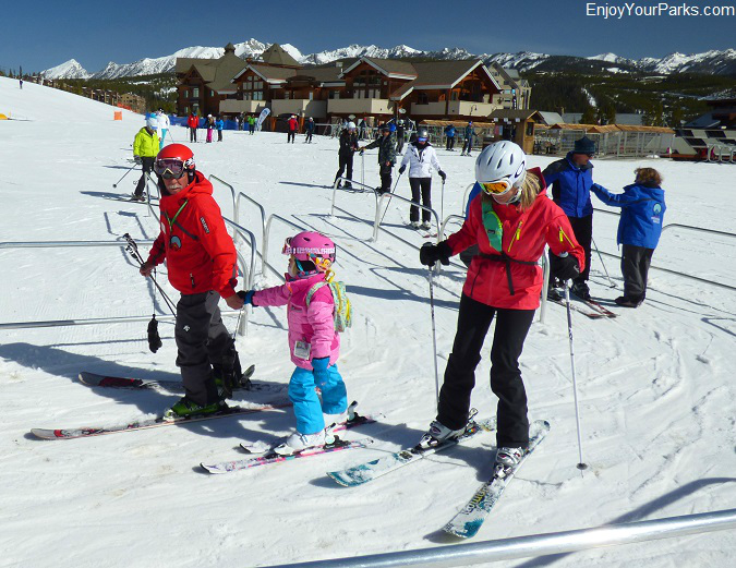 Skiers enjoying the day at Big Sky Montana
