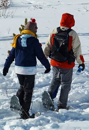 Snowshoeing, Silver Gate Montana, Yellowstone National Park