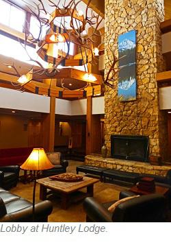 Huntley Lodge Lobby, Big Sky Resort Montana