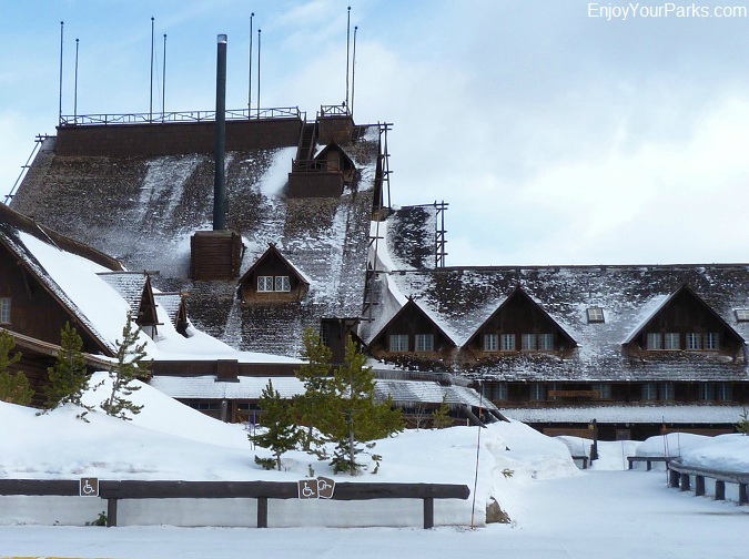 Old Faithful Inn, Winter In Yellowstone Park