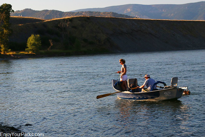 Fishing on the Yellowstone River in Paradise Valley