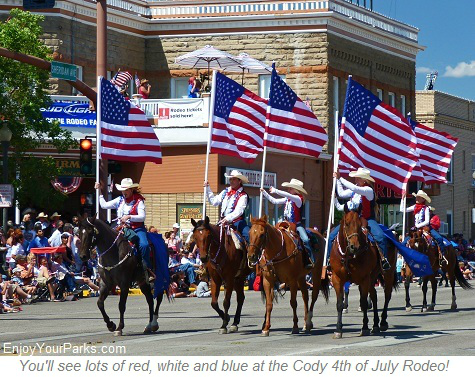 Cody Fourth of July Parade in Cody Wyoming, Yellowstone National Park
