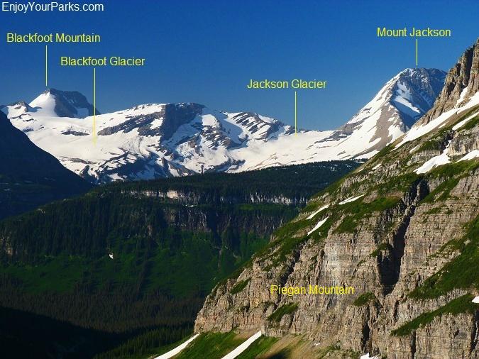 Blackfoot Glacier - Jackson Glacier Complex, Piegan Pass Trail, Glacier Park