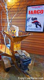 Wood chipper from the movie Fargo, Fargo Visitors Center