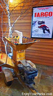 Wood chipper from movie Fargo, Fargo Visitors Center