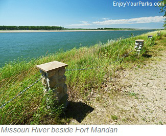 Missouri River next to Fort Mandan