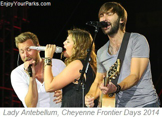 Lady Antebellum performing at Cheyenne Frontier Days 2014