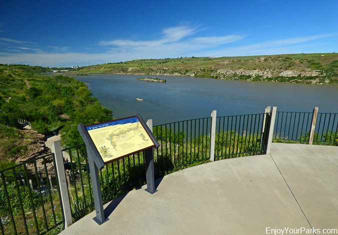 Missouri River, Lewis and Clark National Historic Trail Interpretive Center, Great Falls Montana