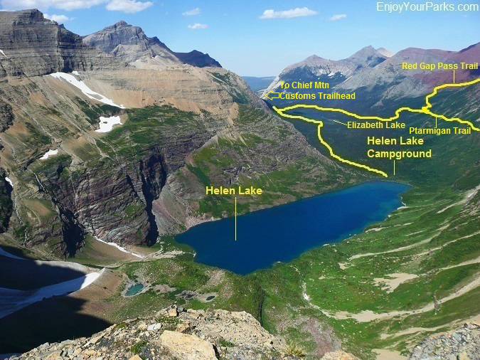 Helen Lake, Belly River Valley, Glacier National Park