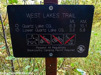 West Lakes Trail, Quartz Lakes Trail Loop, Glacier National Park