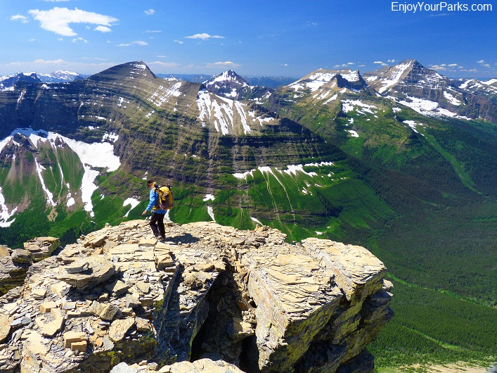 Flinsch Peak summit view, Glacier National Park