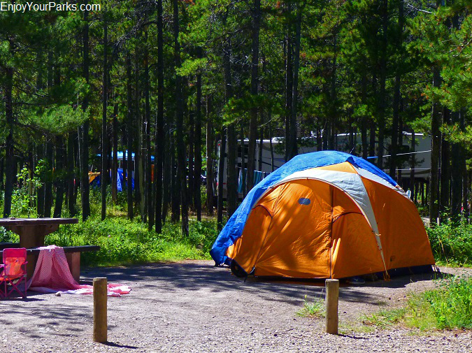 Crandell Mountain Campground, Red Rock Parkway, Waterton Lakes National Park