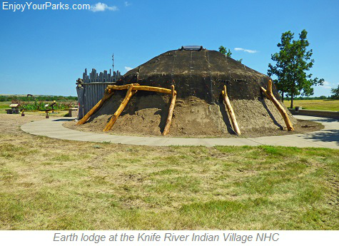 Earth lodge, Knife River Indian Villages National Historic Site, North Dakota