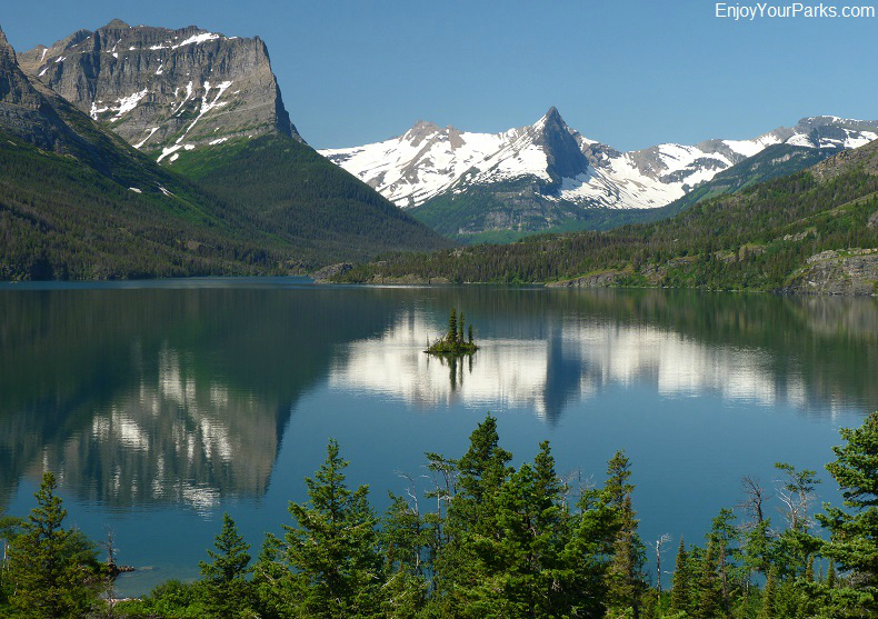 Wild Goose Island in Glacier National Park Montana