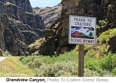 Peaks to Craters Scenic Byway, Idaho