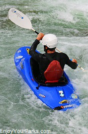 Kayaker on the Gallatin River Montana