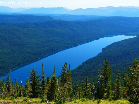 Numa Lookout, View of Bowman Lake, Glacier National Park