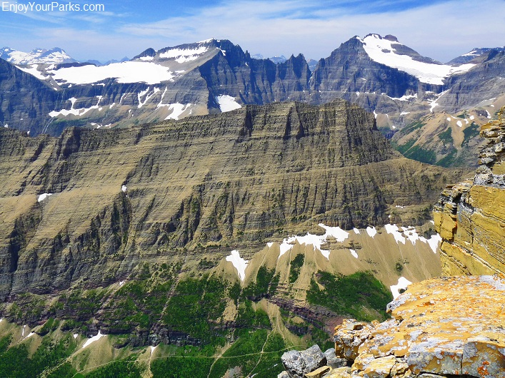 Crowfeet Mountain summit view, Glacier National Park