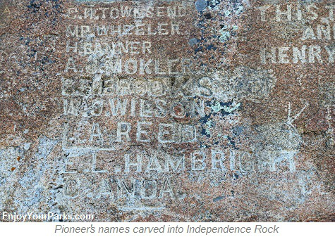 Pioneer Names, Independence Rock National Historic Landmark, Wyoming