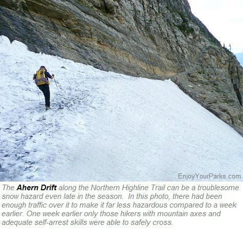 Ahern Drift, Northern Highline Trail, Glacier Park