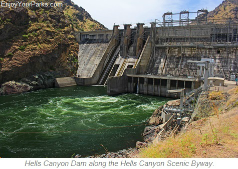 Hells Canyon Dam, Hells Canyon Scenic Byway, Idaho
