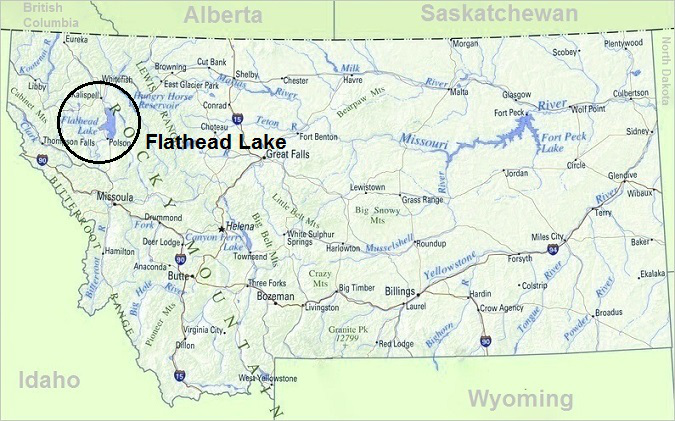 Map of Montana, Top Things To Do In Montana, Flathead Lake