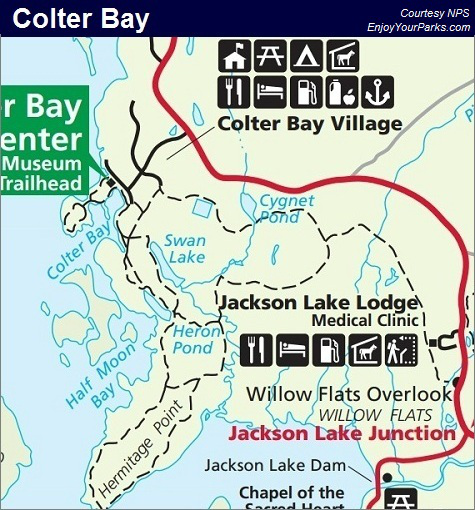 Colter Bay Map, Grand Teton National Park Map