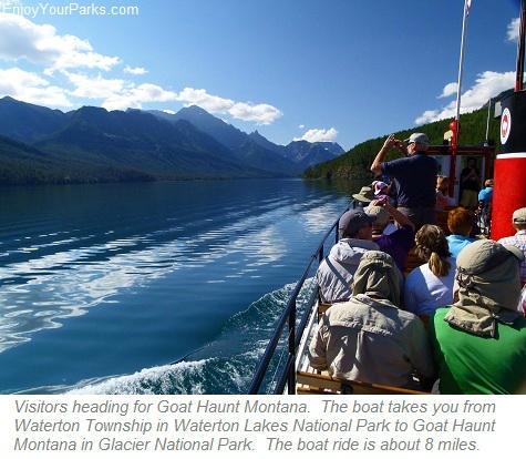 Waterton Lake Boat Tour, Goat Haunt Montana, Glacier Park