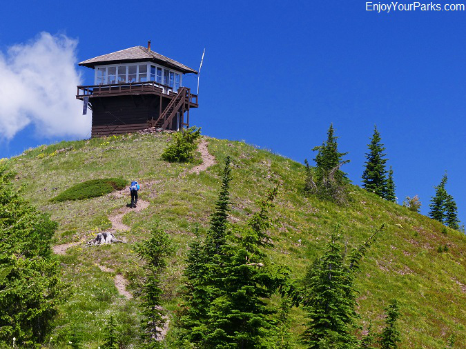 Huckleberry Lookout, Huckleberry Mountain Summit, Glacier National Park